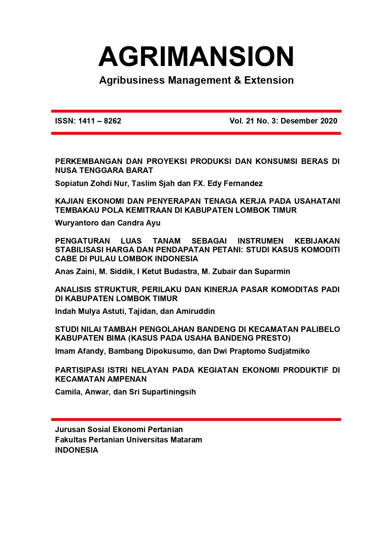 Jurnal Agrimansion Desember 2020